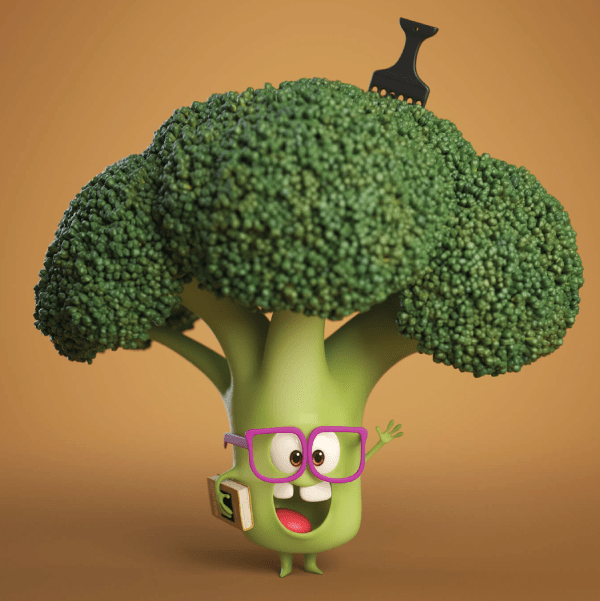 Really Good Character Design - Adorable Cute Veggie Character Person