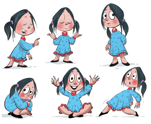 Really Good Character Design - Girl Kid Character Example