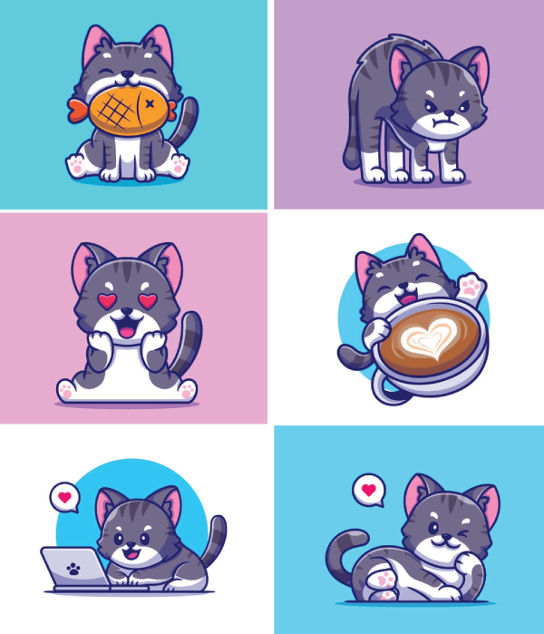 Really Good Character Design - Cute Little Cat Persona
