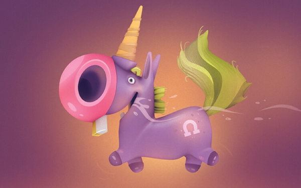 Really Good Character Design - Cute and Funny Unicorn Character