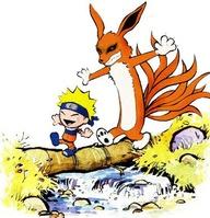Naruto and his pet fox