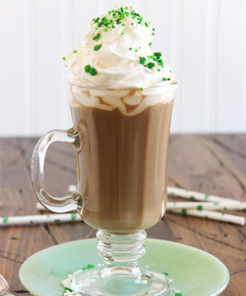 The Nutty Irishman cocktail for St. Patrick's Day party is the perfect Irish coffee cocktail