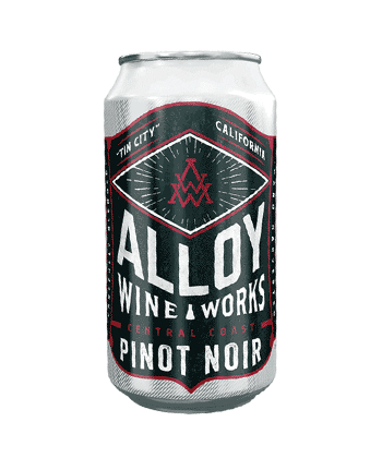 Alloy Wine Works Pinot Noir is one of the best canned wines for Summer 2020