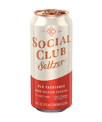 Social Club Old Fashioned Hard Seltzer is one of the best hard seltzers for fall 2020