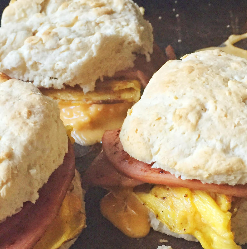 FRIED BOLOGNA BISCUITS Petit Jean Meats