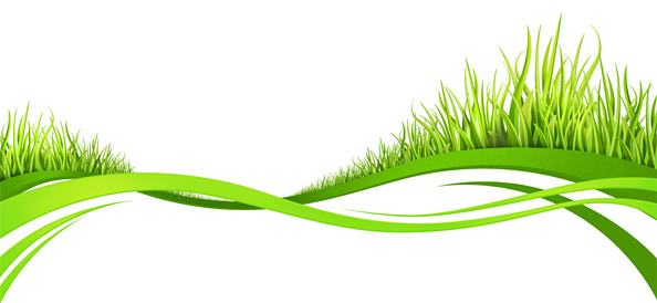 Wavy lines with grass. Nature abstract background