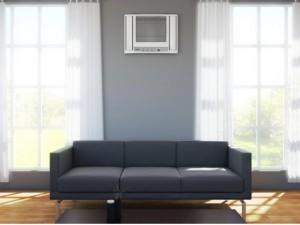 Buraco e instalação do ar condicionado de janela