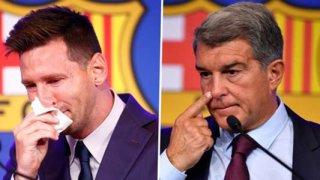 Жестоката брадва на Лапорта закла Меси и много други.  Има само една цел - оцеляването на Барселона.