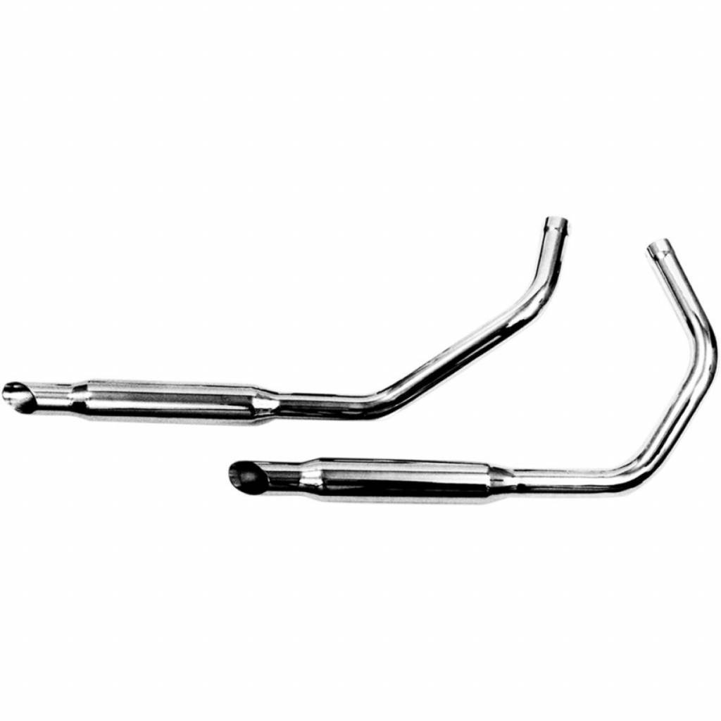 Paughco Chrome Staggered Dual Muffler Sets For 57 85