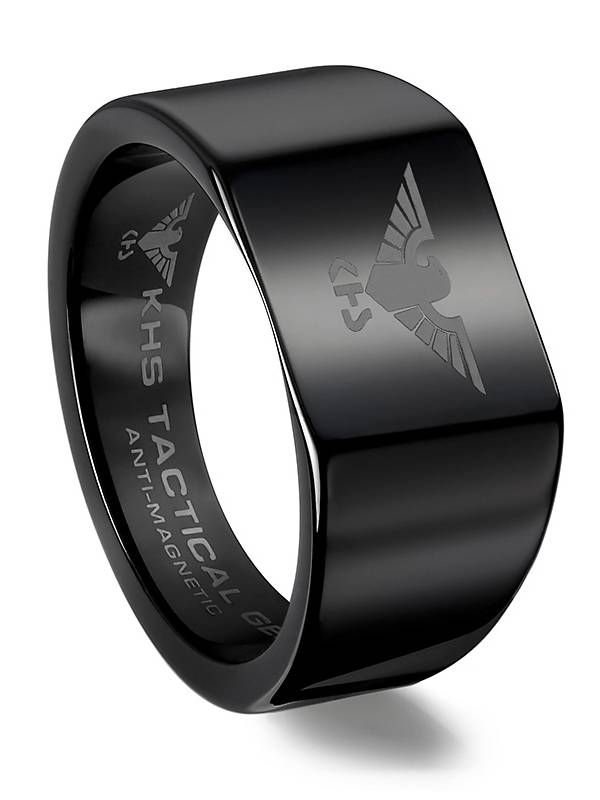 KHS Tactical Watches Tungsten Carbide Rings Black Eagle