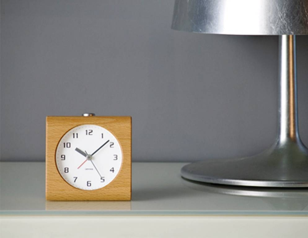 Lemnos Design Alarm Clock Block Carved From A Solid