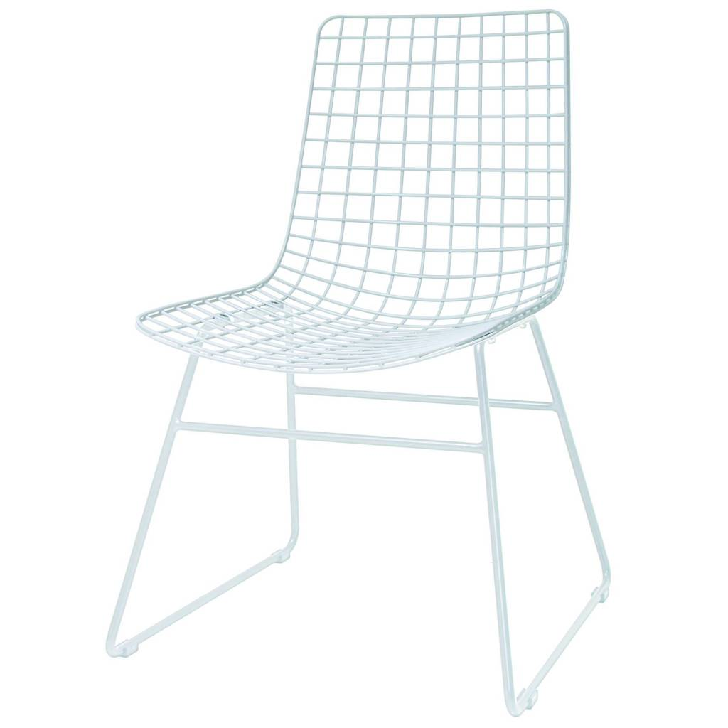 Hk Living Dining Chair Dining Wire White Metal 47x54x86cm