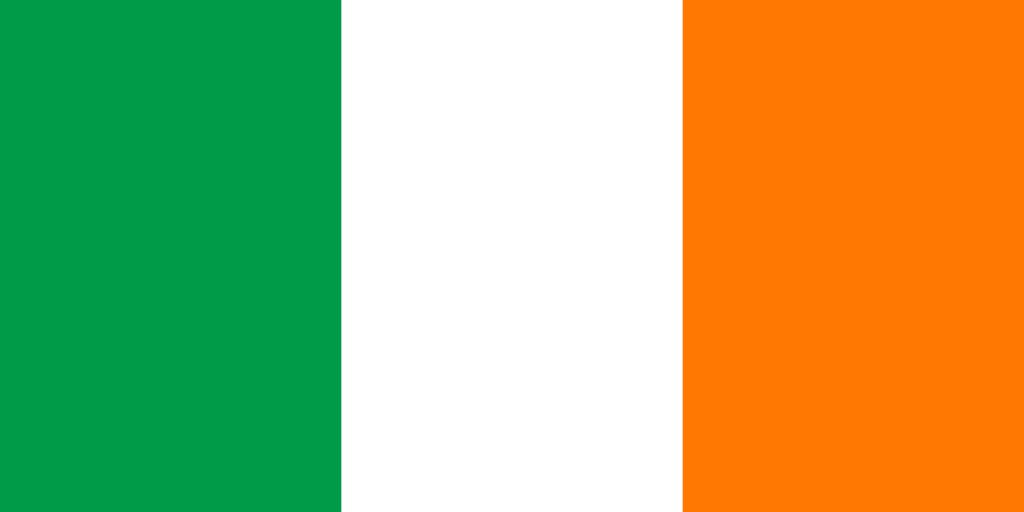 Ireland Flag Coloring Country Flags