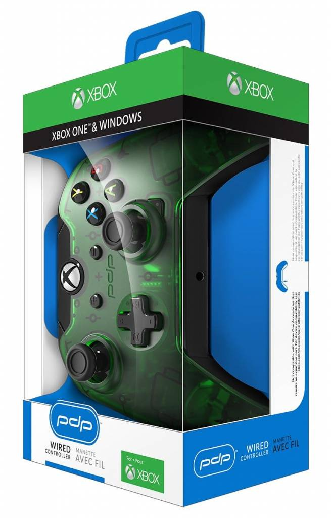 Wired Controller Official Xbox One Green New Model 2018