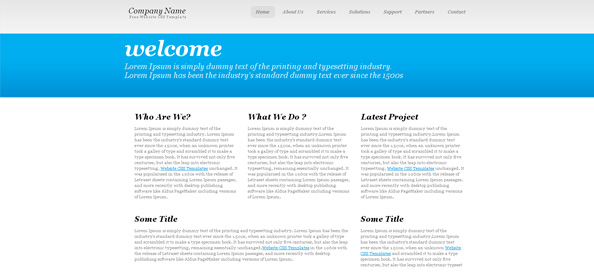 Simple Typography Website CSS Template