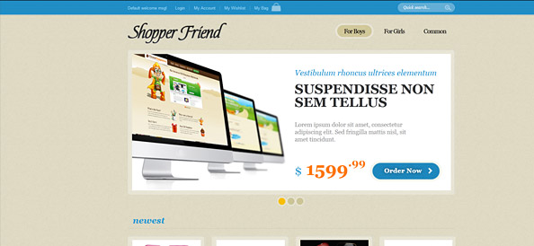 Ecommerce Website CSS Template with jQuery Slider