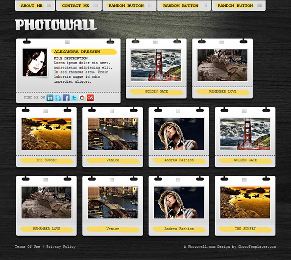 Free Gallery Website CSS Template - Website CSS Templates
