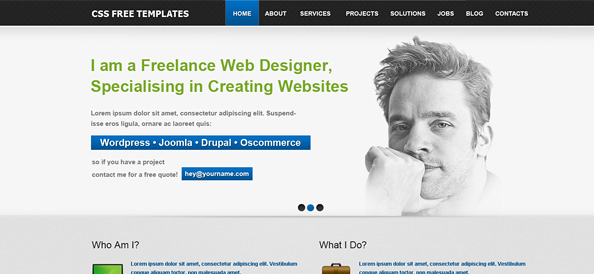Free website css templates business templates corporate templates free website css template for personal portfolio and business flashek Gallery