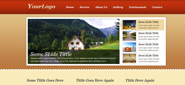 Free Website CSS Template with nice jQuery Slider Carousel