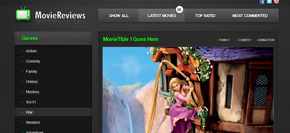 HTML5 Movie Template