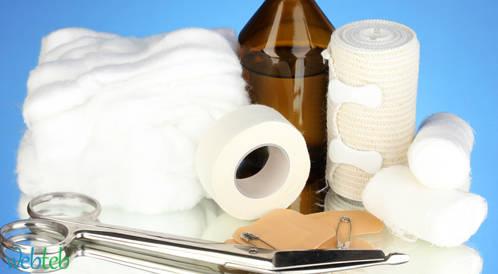 مكونات صندوق الإسعافات الأولية للأطفال ويب طب