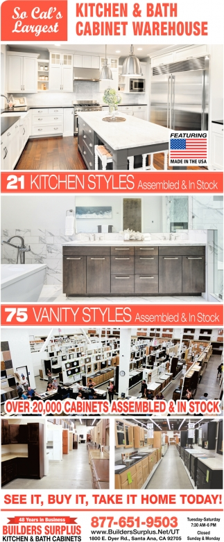 So Cal S Largest Kitchen And Bath Cabinet Warehouse Builders