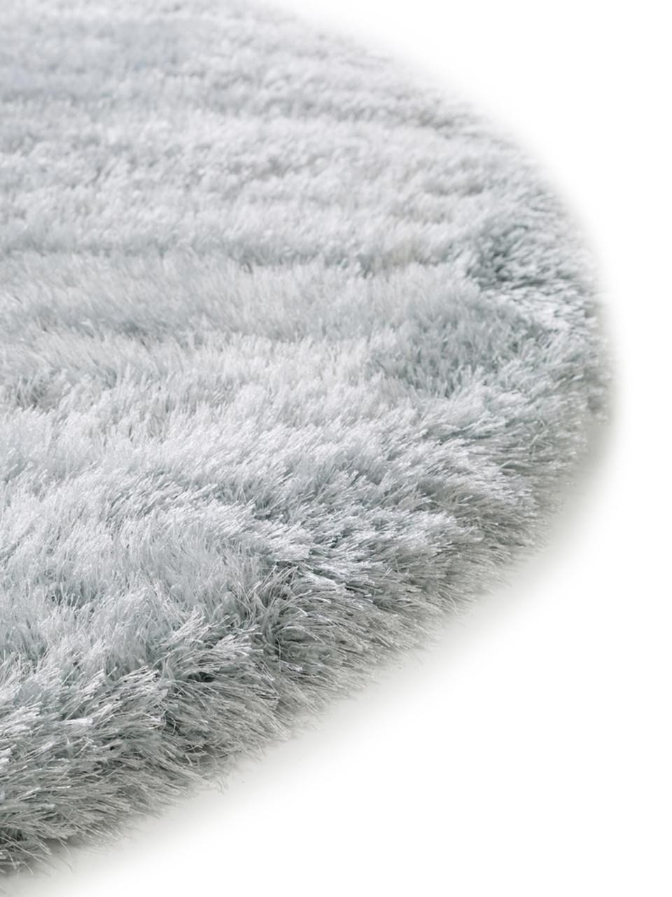tapis rond shaggy bleu ciel lea