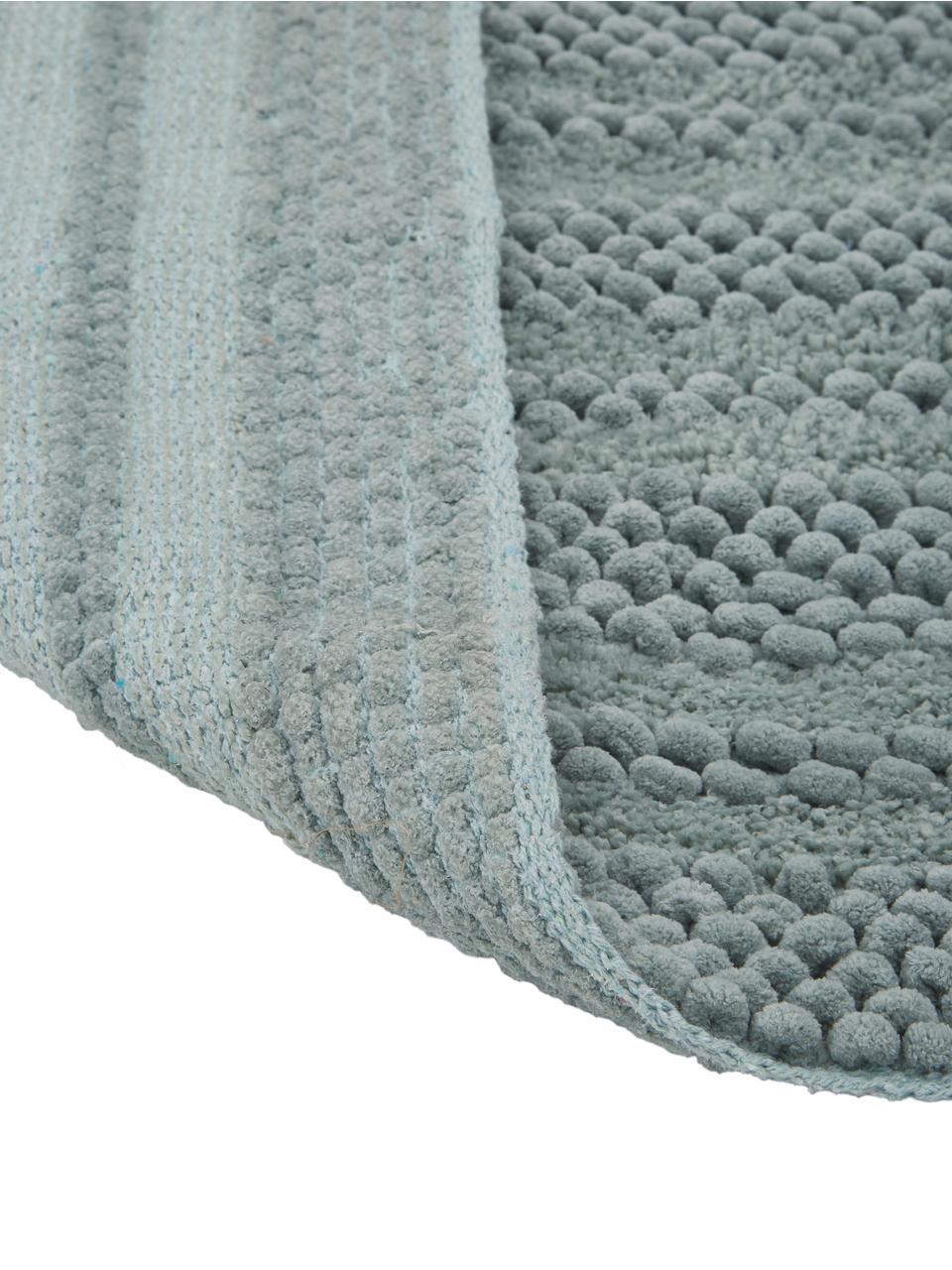 tapis de bain vert menthe a surface irreguliere nea