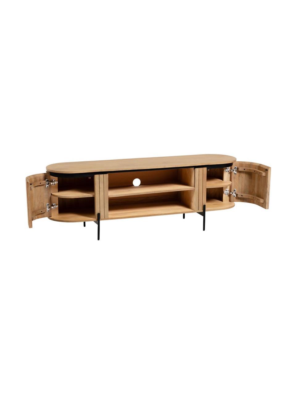 meuble tv retro en bois massif licia