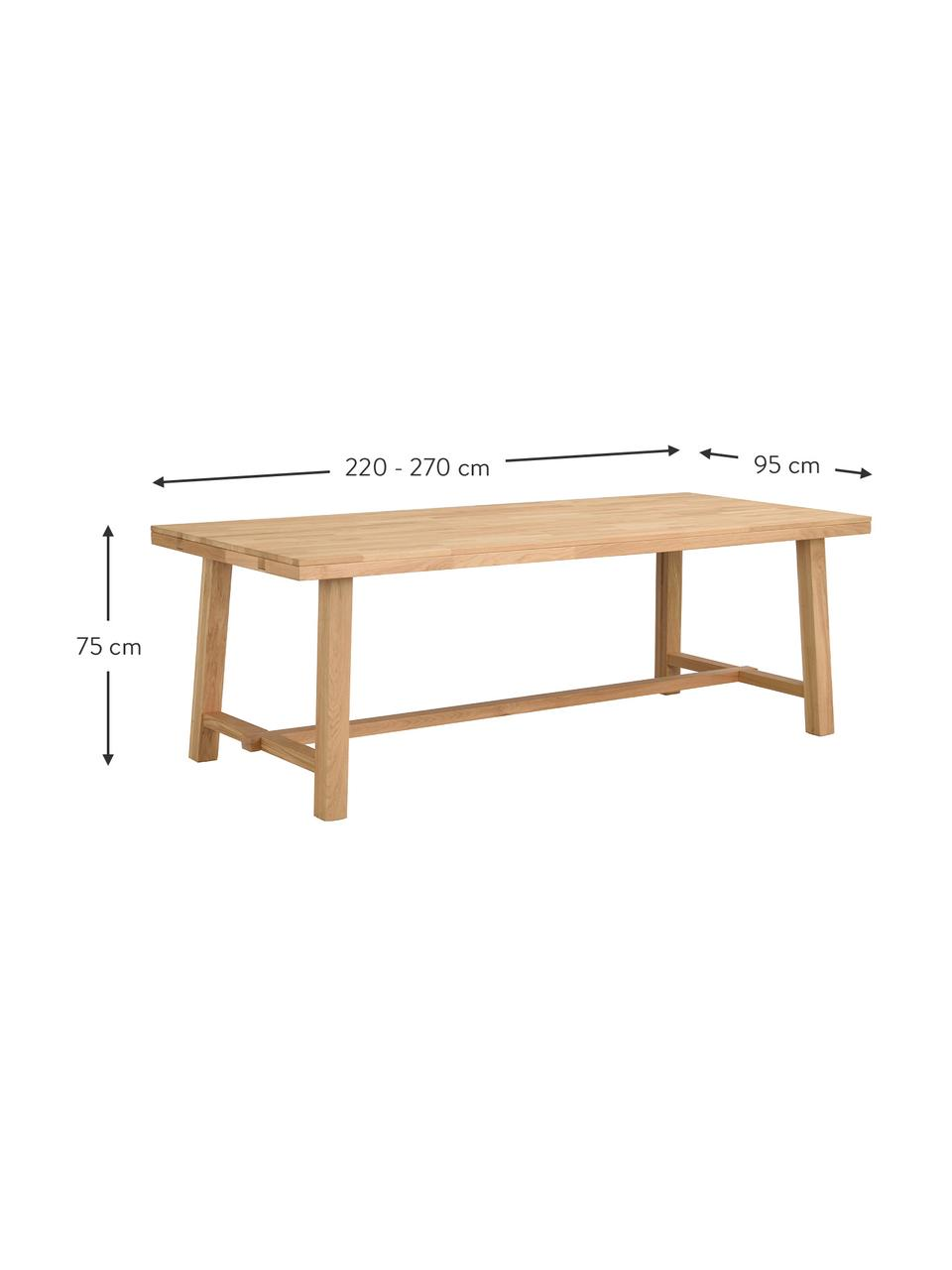 table extensible en chene massif brooklyn
