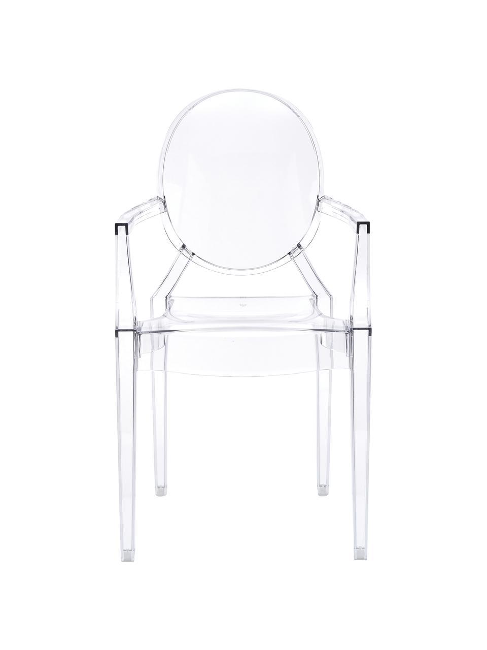 chaise transparente en plastique louis ghost