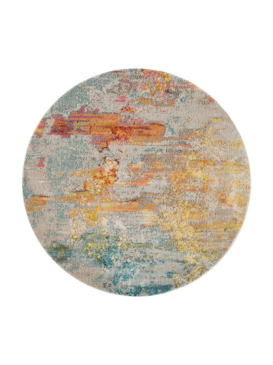 tapis rond design multicolore celestial