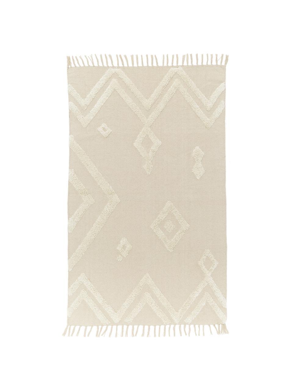 tapis graphique blanc casse canvas