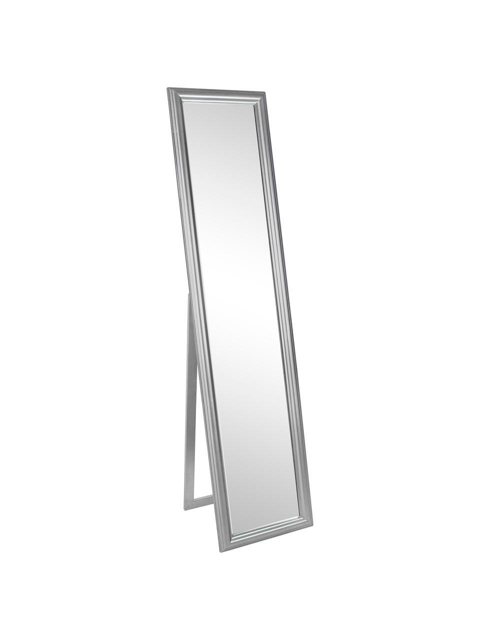 miroir sur pied cadre en bois argente sanzio