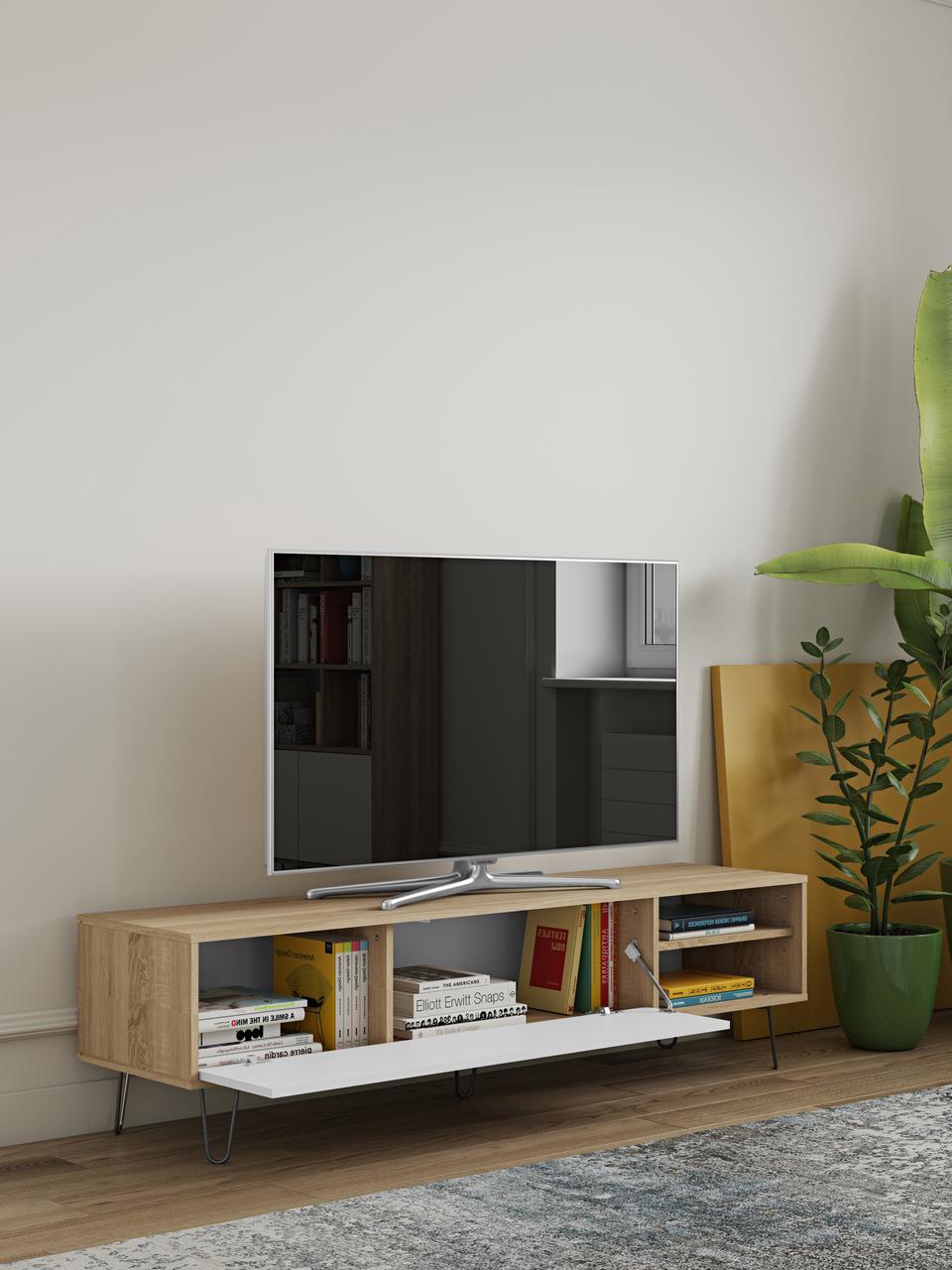 meuble tv avec porte a clapet aero