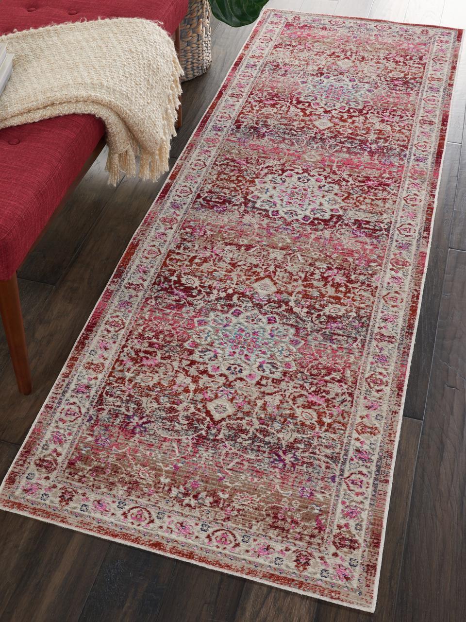 tapis de couloir oriental a poils ras kashan age