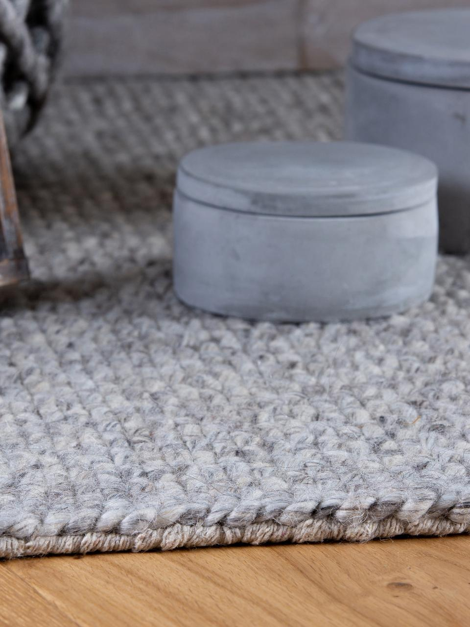 tapis laine gris clair eskil
