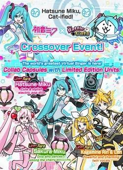 Hatsune Miku Collaboration Event Battle Cats Wiki Fandom