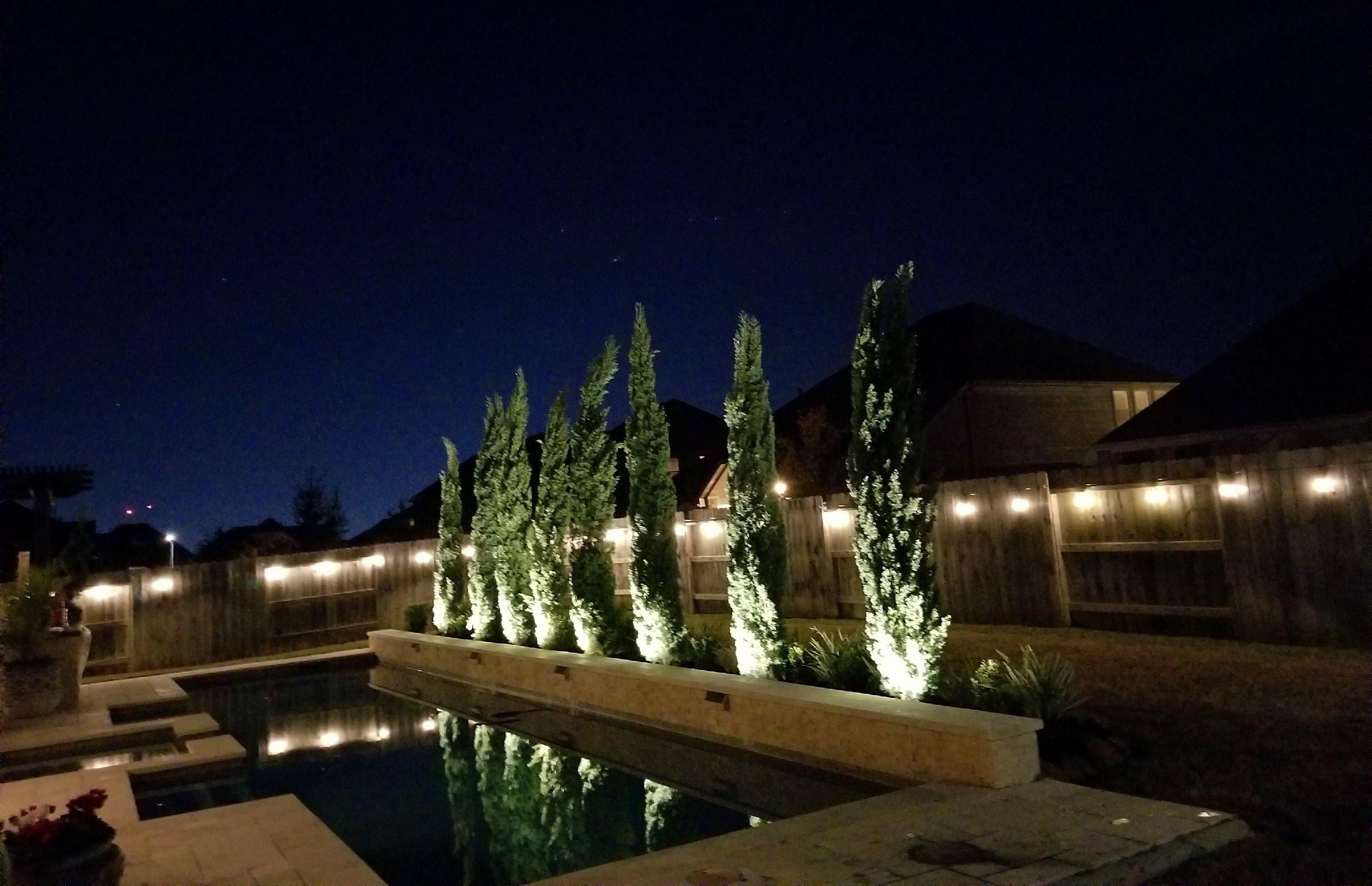 outdoor lighing aliana landscape design