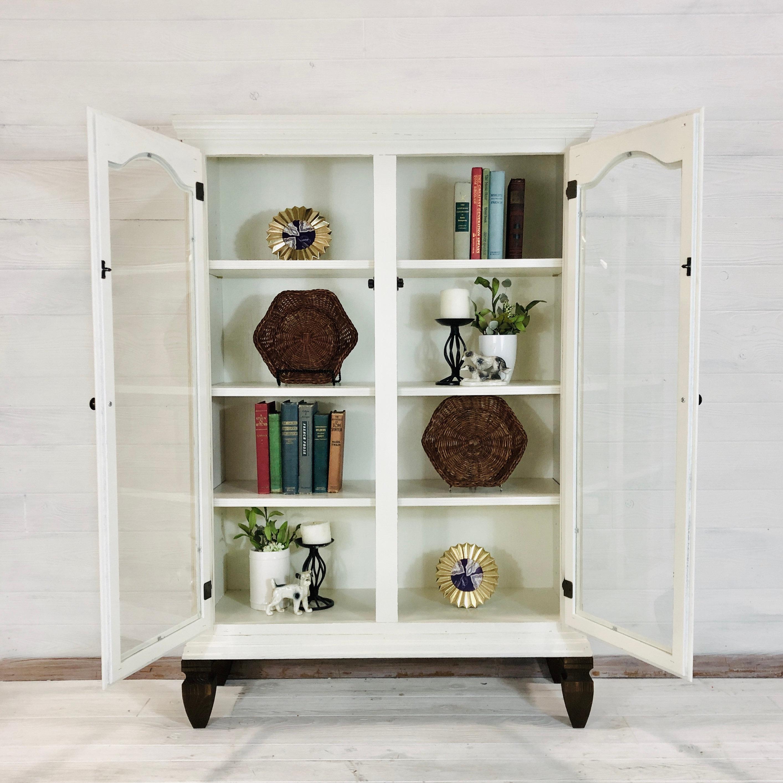 Antique White Book Shelf