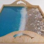 Resin Beach Serving Tray Seaside Serenity