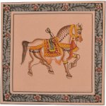 Royal Rajasthani Miniature Camel Painting On Silk Indian Painting Rmantra