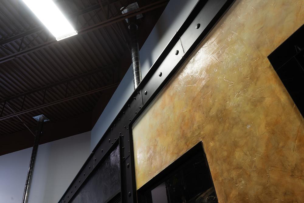 poutre en fini acier peint noir i fini