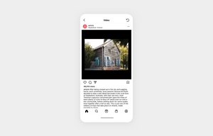 airbnb shows customers on their Instagram with image of a Airbnb house for rent