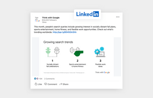 infographic example shared on linkedin by Think with Google