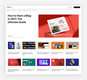 blog design homepage