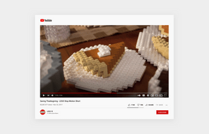 social media content example of a video on youtube by Lego