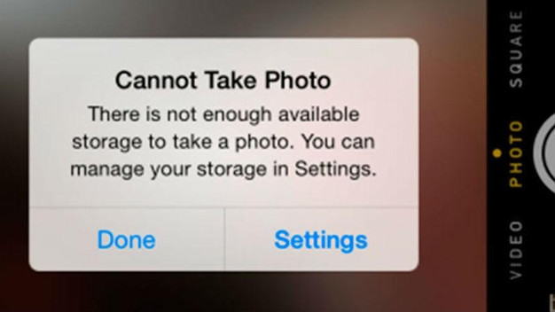 Image result for no storage on iphone