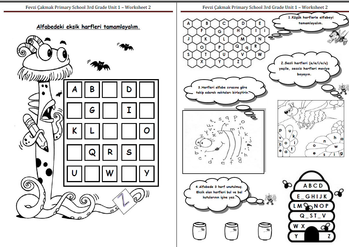3 1 Alphabet Worksheet