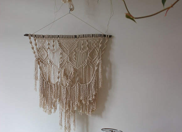 Custom Macrame Wall Hanging In Natural Cotton